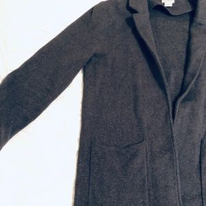 JCrew dark grey sweater blazer (size S)